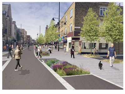 A pedestrianised Roman Road market area could encourage residents to walk and cycle more of their journeys