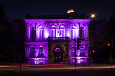 Bromley Public Hall in purple 001