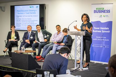 Panelists discuss how businesses can grow in Tower Hamlets