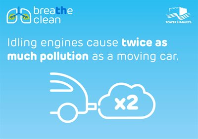 Twice as much pollution idling