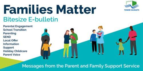 Families Matter E-Bulletin poster