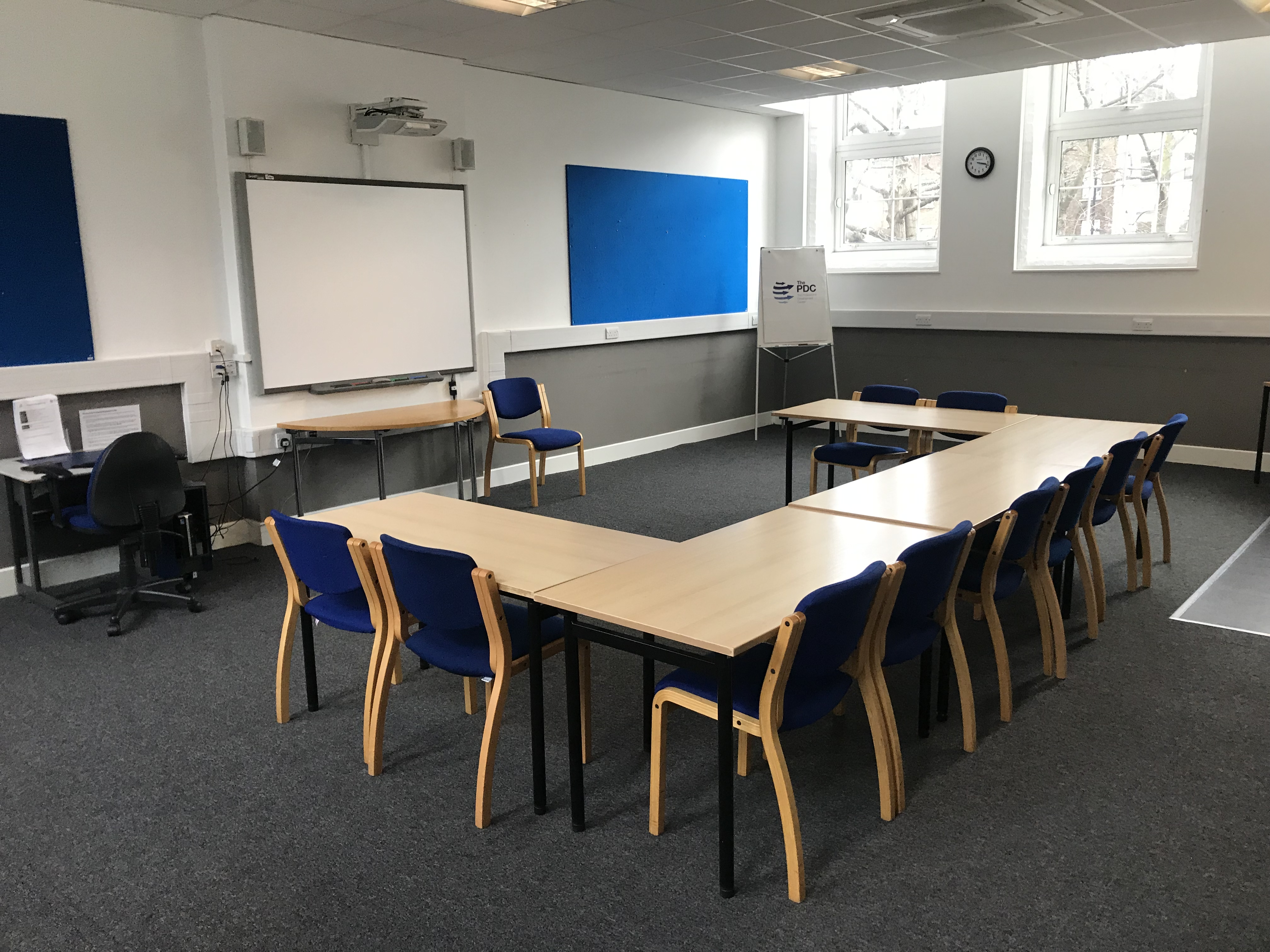 room 107 - ushape tables and chairs