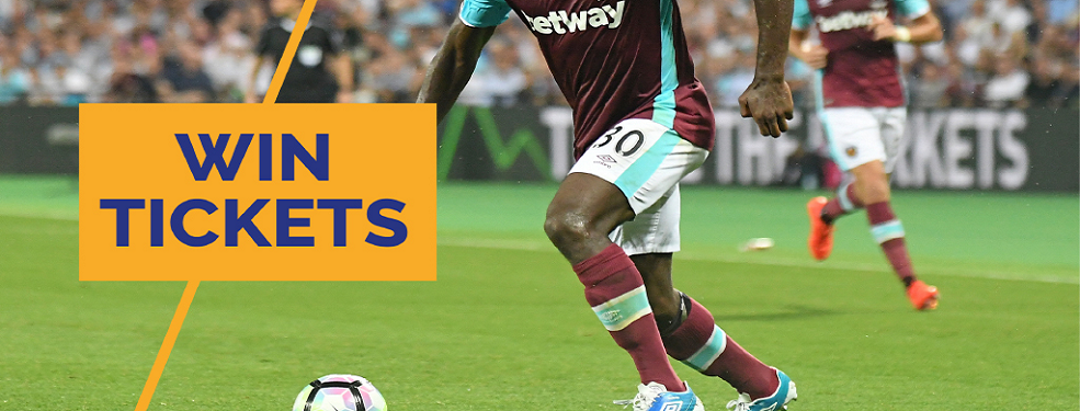 Your chance to see West Ham take on Watford
