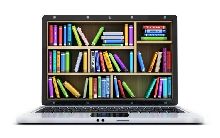 Library book Laptop screen