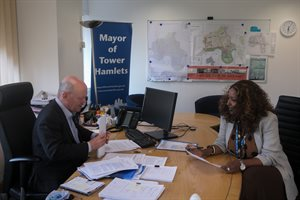 Mayor Biggs and Cllr Ali 01