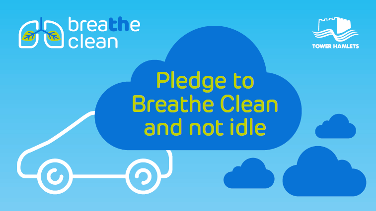 Pledge to Breathe Clean and not idle infographic