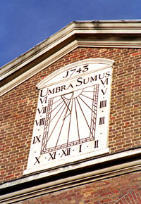 Sundial on Jamme Mosque, former synagogue