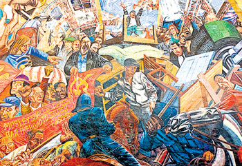 They Shall Not Pass - the mural of the Battle of Cable Street